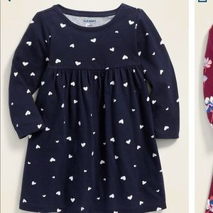 Navy blue w/white hearts tunic dress 3-6 Months
